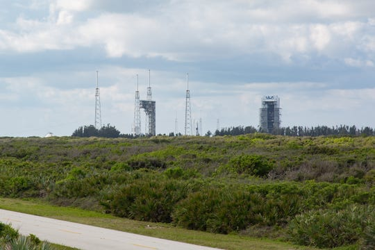 To the south of KSC's future Launch Complex 48 are complexes 41 and 40. The pads are for ULA's Atlas V and SpaceX's Falcon 9 rockets, respectively.