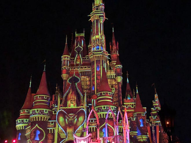 Villains Unite the Night is a 20-plus minute stage show in front of the castle that features Hades, Meg, The Queen, Maleficent and Jafar