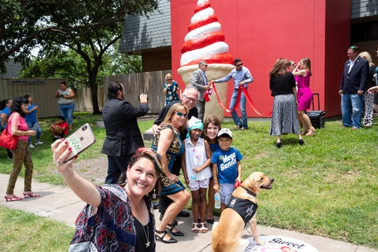 The Corpus Christi Ice cream cone was unveiled in front of the Ronald McDonald House of Corpus Christi Monday, June 10, 2019.
