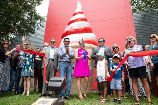 The Ronald McDonald House of Corpus Christi holds a ribbon cutting for the relocated Corpus Christi ice cream cone on Monday, June 10, 2019.