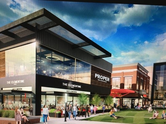 An artist's rendering of planned renovations at Newport on the Levee