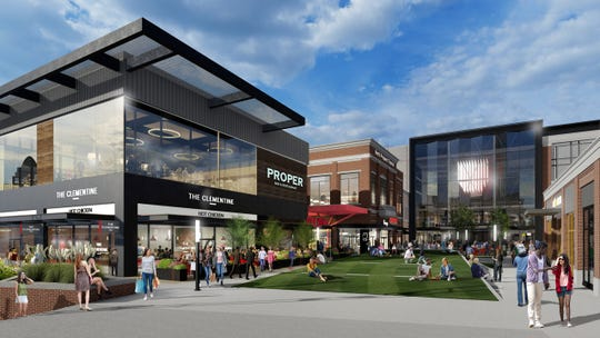 An artist's rendering of the reimagined Newport on the Levee