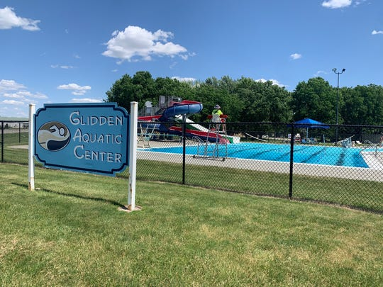 A view looking east June 10, 2019, toward the Glidden Aquatic Center, a public pool in the city of about 1,150 people. A 6-year-old Carroll boy drown while swimming here two days earlier.