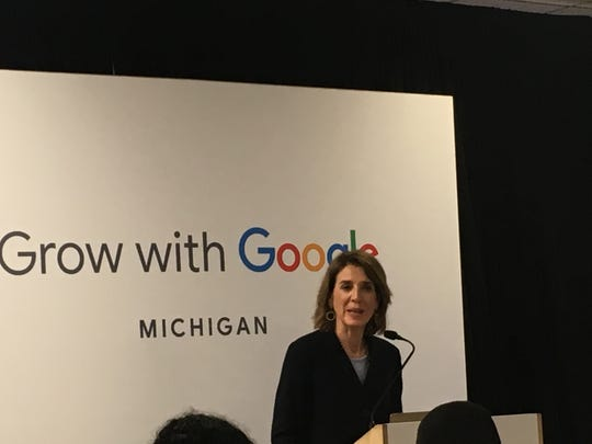 Google CFO Ruth Porat spoke Monday, June 10, 2019, at the Taylor Community Library.
