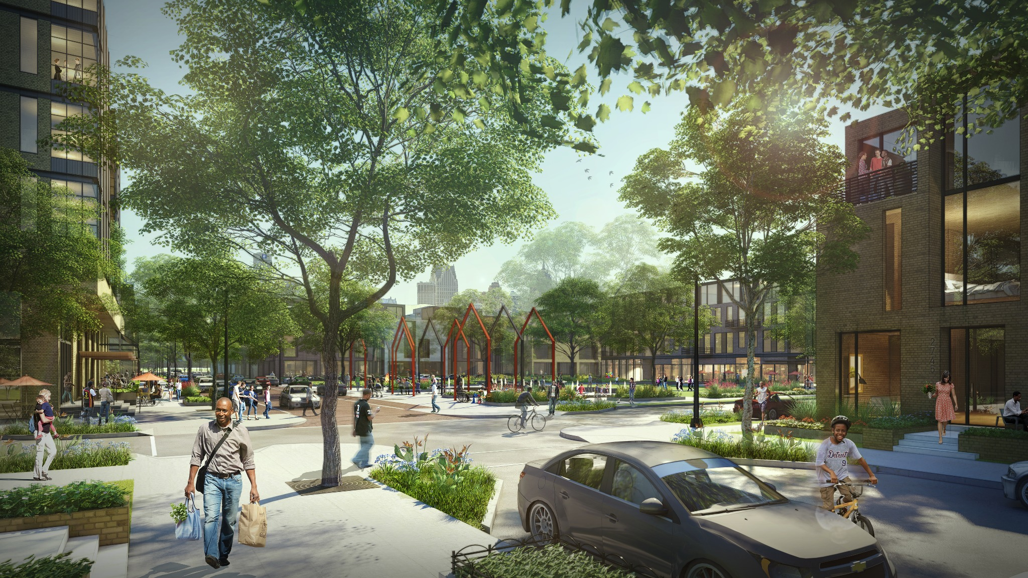 This artist rendering of the proposed development on the Brewster-Douglass site was released last July.