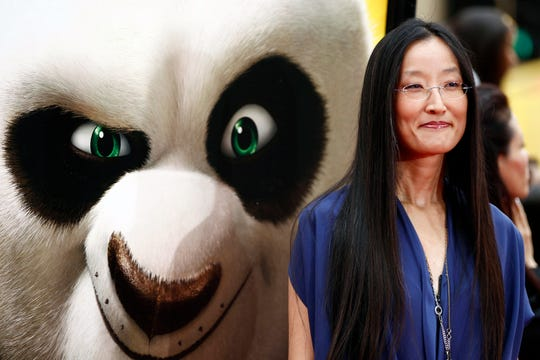 "Director Jennifer Yuh Nelson arrives at the premiere of ""Kung Fu Panda 2,"" in Los Angeles."