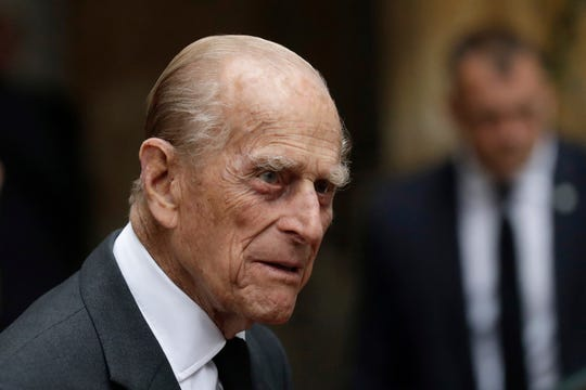 In this Tuesday, June 27, 2017 file photo, Britain's Prince Philip leaves St Paul's Church in Knightsbridge, London.