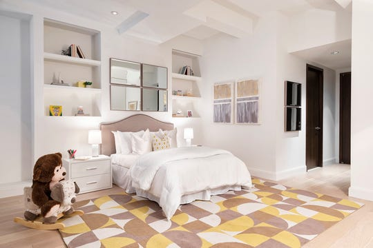 A color palette of yellow and taupe helps create a gender-neutral children's bedroom. (Design Recipes/TNS)