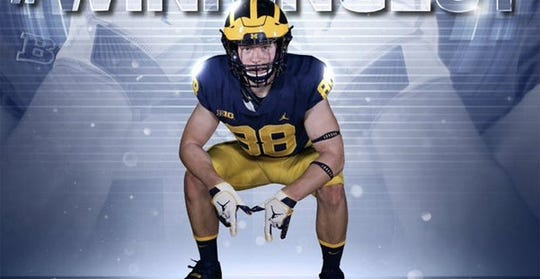 Virginia high school tight end prospect Matthew Hibner has committed to Michigan.