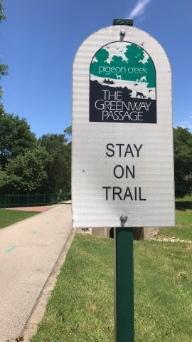 Evansville's Pigeon Creek Greenway Passage is popular with runners, walkers and bicyclists. However, a recently settled lawsuit claimed a portion of the Greenway under the Franklin Street bridge was poorly designed. The lawsuit was filed by Evansville resident Cindy Goebel who was seriously injured when she collided with another bicyclist on a blind curve under the bridge.