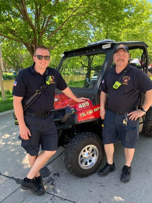 Fond du Lac Fire/Rescue medic crew members Connor Knaus and Brian Westby revived a man who went into cardiac arrest at Walleye Weekend Saturday, June 8, 2019.