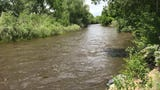 The Poudre River is below flood stage, but will likely peak later than usual this year.