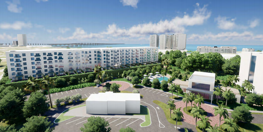 A rendering shows a concept plan of the Seaboard development planned for Seaboard and Michigan in Fort Myers.