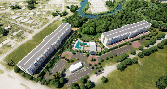 A rendering shows an overhead look at what the Seaboard development could look like.