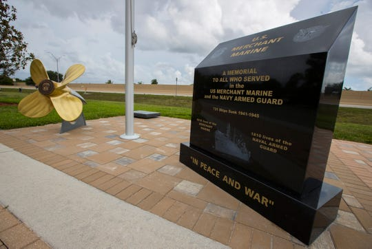 Veterans Memorial Park at Four Mile Cove Ecological Preserve in Cape Coral has a new memorial to honor Merchant Marines and Navy Armed Guard seamen.