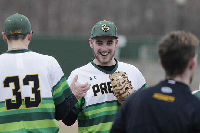 Green Bay Preble's Bryce Miller (15) returned to the mound during sectional play last week.