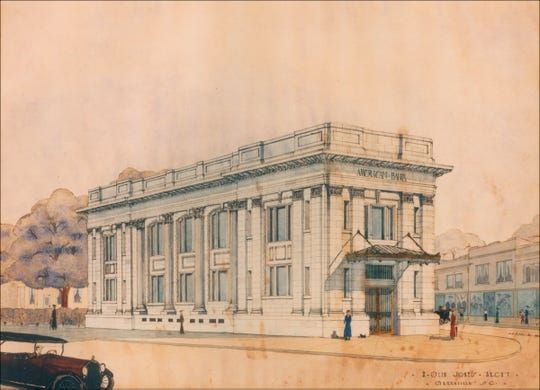 Fidelity's start was as the American Building & Loan on a side office of the impressive American Bank building at the intersection of Augusta, Main and River streets in the West End.
