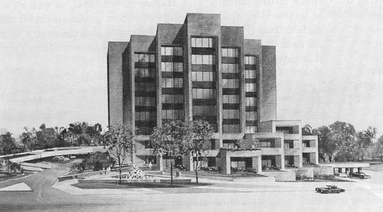 "The architect's rendering of the First Federal Building, completed in fall 1972. It was, the company boasted, a ""new landmark"" for Greenville."