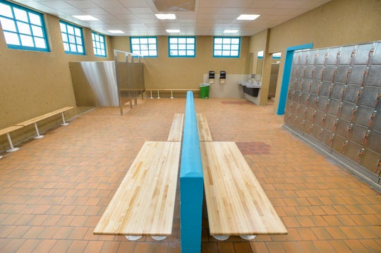 The Electric City Water Park bathhouse has been remodeled.