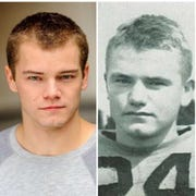 After being reached out to for the role, actor Shane Alan Graham put together a side by side of himself and the famous UI football star Nile Kinnick.