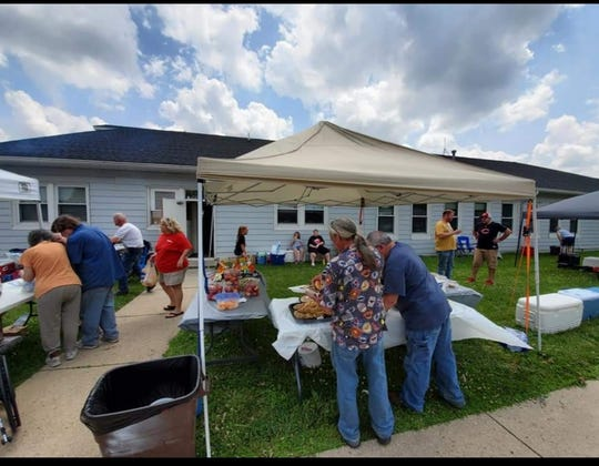 Everyone was welcome at the tents that were set up to feed the folks impacted by Memorial Day tornadoes in Dayton, Ohio.