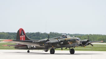 """B-17 Flying Fortress  """"Texas Raiders"""" is in West Lafayette for tours and flights"""