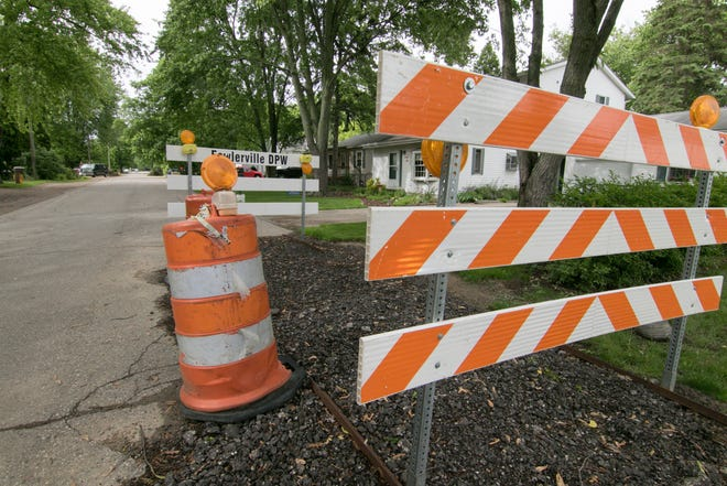 S. Benjamin St. in Fowlerville, shown Monday, June 10, 2019, along with portions of Church St., will be reconstructed starting in July.
