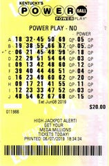 $1 million winning Powerball ticket.