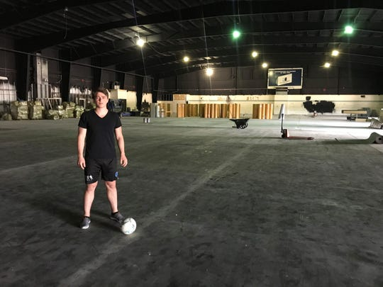 Jeremy Klepal, 26, is part of an investment group that wants to revitalize the former Metro Arena in Delta Township. They also have found success bringing businesses to the area.