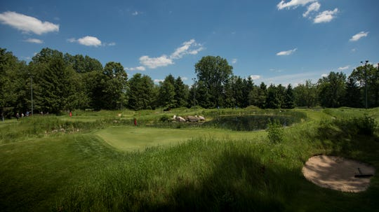 The putting course at Little Hawk in Bath Township.
