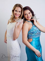 Miss Harbor Cities Sarah Niehueser and Miss Harbor Cities Teen Zoe Rucinsky.