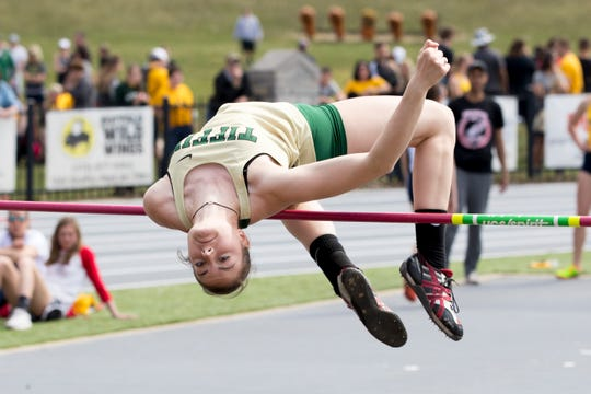 In her first year at Tiffin University, Galion grad Marisa Gwinner became the school's first female national champion in track and field and set both the school's indoor and outdoor high jump records at 1.75 meters (5-8.75).