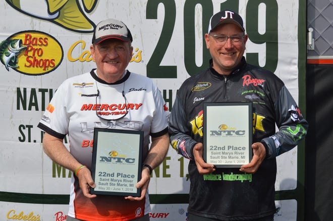 John Allen, left, and Jason Maraskine received All-American honors at the recent National Team Championship Walleye Tournament in northern Michigan.
