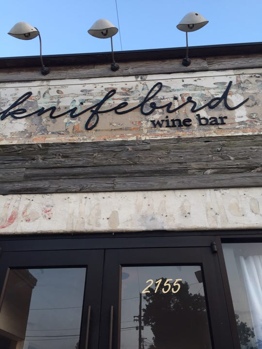 New Midtown wine bar Knifebird is at 2155 Central Ave. near Cooper Street.