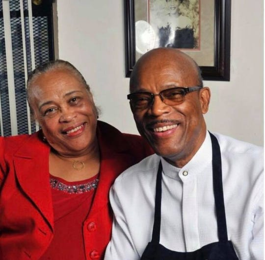 Jo Ellen Bates (left), an owner of the stored South Memphis soul food restaurant The Four Way, died Sunday. Here she is pictured with her husband, Willie Earl Bates, who owned the restaurant with Bates before he died in 2016.