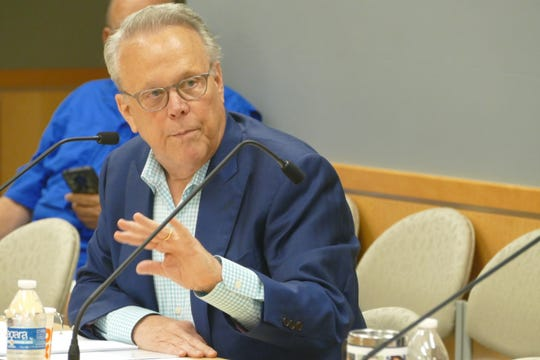 Councilor Larry Honig participates in the city's Capital Budget Workshop on May 20, 2019.