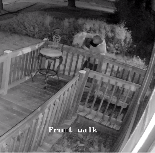 Milwaukee Police are seeking information about the man in this surveillance footage from the property where the arson was committed.