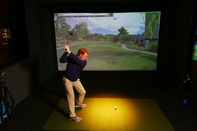 Potawatomi Hotel & Casino will install two Topgolf Swing Suite Bay golf simulators this fall next to the Fire Pit Sports Bar & Grill.