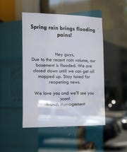 A note on door of Brunch informs patrons the restaurant is temporarily closed. The Cawker Building's basement is flooded, which forced tenants Pier 106 at 106 W. Wells St. and Brunch at 800 N. Plankinton Ave. to close temporarily.