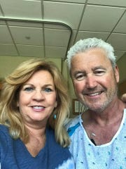 Mayor Timothy Dougherty, with his wife, Mary, at Morristown Medical Center's Gagnon Heart Hospital after he suffered a heart attack on Saturday, June 8.