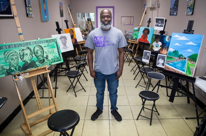 Common Ground co-founder Kevin King at his new venture King's Canvas in Montgomery, Ala., on Thursday, June 6, 2019.