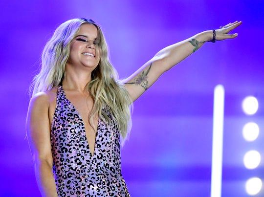 Maren Morris performs during the 2019 CMA Fest Sunday, June 9, 2019, at Nissan Stadium in Nashville, Tenn.
