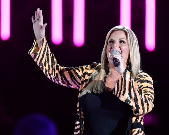 Trisha Yearwood performs during the 2019 CMA Fest Sunday, June 9, 2019, at Nissan Stadium in Nashville, Tenn.