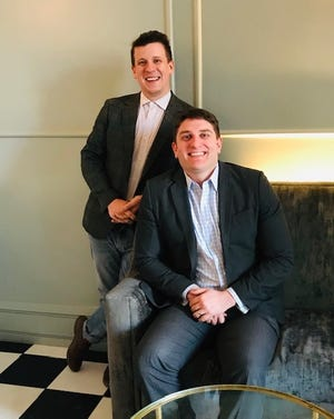 James Garrido, left, restaurant general manager, and Mark Hayes, hotel general manager, are the leaders of Kimpton Aertson Hotel in downtown Nashville.