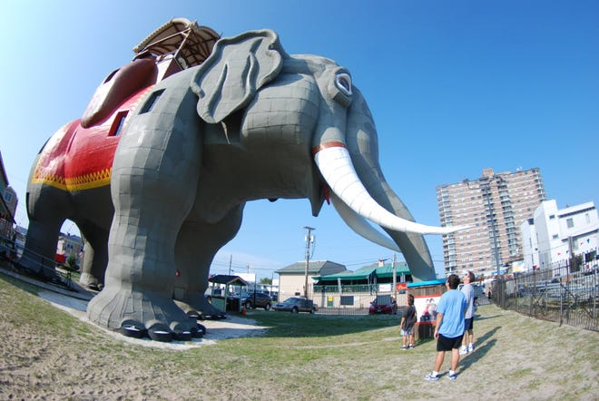 At six stories high, Lucy the Elephant towers over visitors. The 138-year-old attraction can be rented as an Airbnb for $138 on three dates in March.