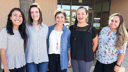 The Play Sharity Foundation Executive Board is, from left, Kalyn Blazak, Chelsea Newman, Jamie Viramontes, Ariana Saludares and Britney Valdez. Not pictured is Crysel Replogle