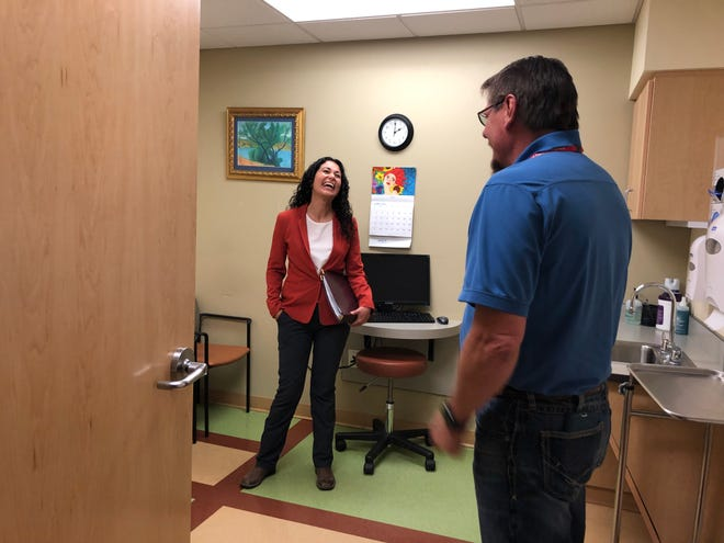 U.S. Rep. Xochitl Torres Small, D-NM, visits the Community Health Center in Silver City, a location served by Hidalgo Medical Services, on Saturday, June 8, 2019.