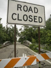 Expect to see signs like this near Canton's Lilley Road bridge until Halloween.