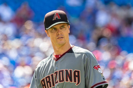 Could Arizona Diamondbacks starting pitcher Zack Greinke (21) be traded before the 2019 MLB trade deadline?