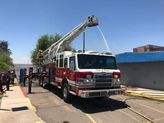 Phoenix Fire Department on scene of a structure fire in south Phoenix on June 10, 2019.